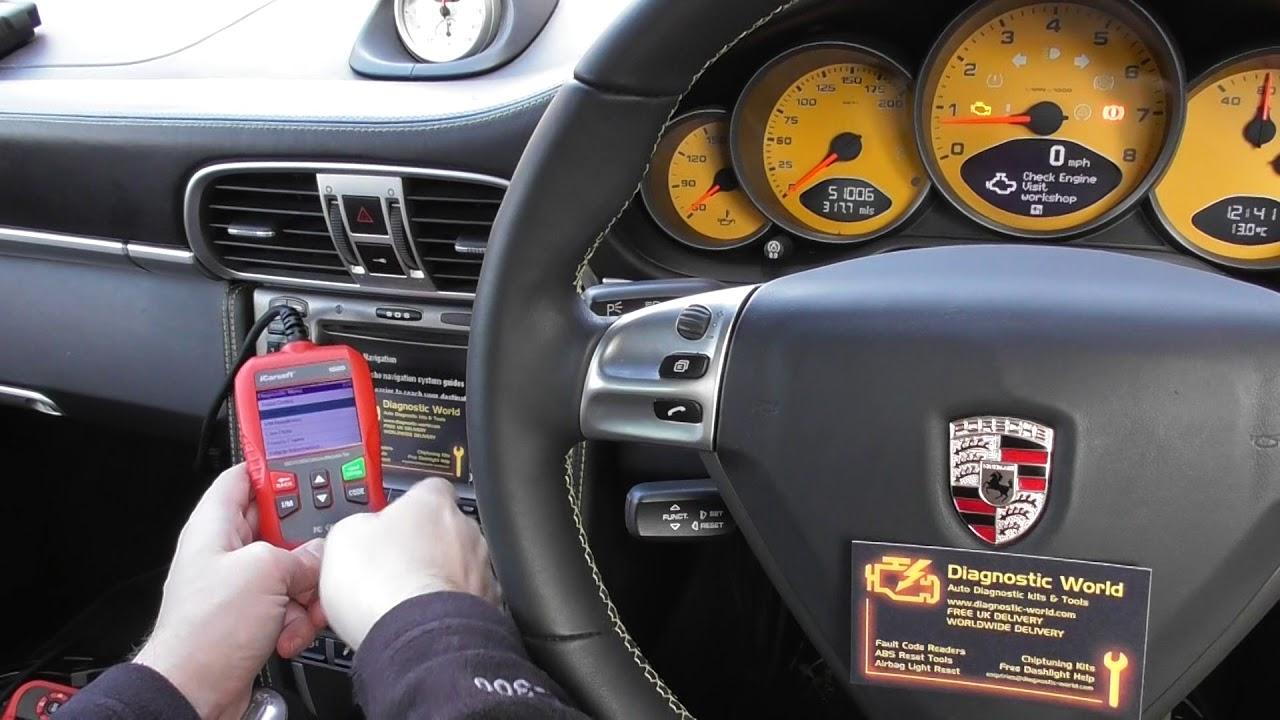 Porsche Check Engine Light P0030 Bank 1 Sensor 1 Diagnose & Reset iCarsoft  i800
