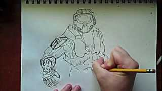 Master Chief Drawing Part 1