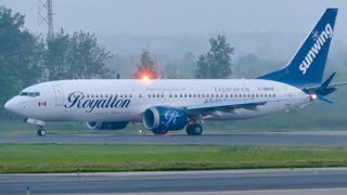 """Sunwing 737-8 MAX """"Royalton Livery"""" departure from Quebec City (YQB)"""