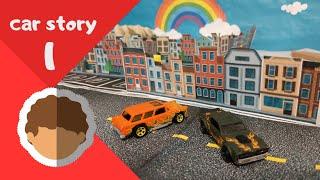 car story 1 ,  car cartoon , police car racing car , fire truck  2020
