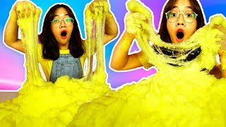FIRST TIME MAKING GIANT CLOUD SLIME Challenge ! Coolest Slime Ever on Earth! Amazing!!!