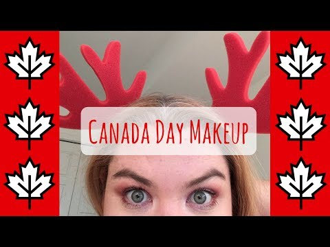 Canada Day Makeup (Very Chatty)