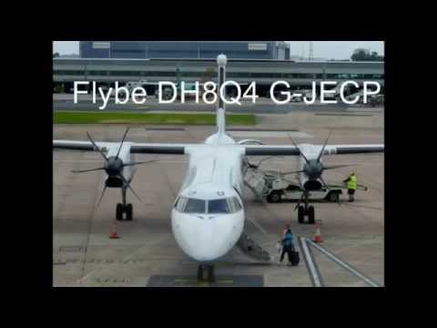 ONBOARD - FLYBE DH8Q4 Flight BE476 Manchester to Belfast City (FULL FLIGHT)