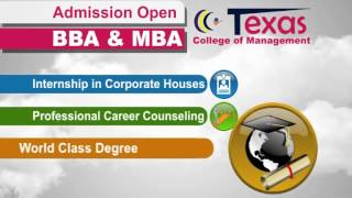 BBA and MBA Admission Open in Texas College of Management