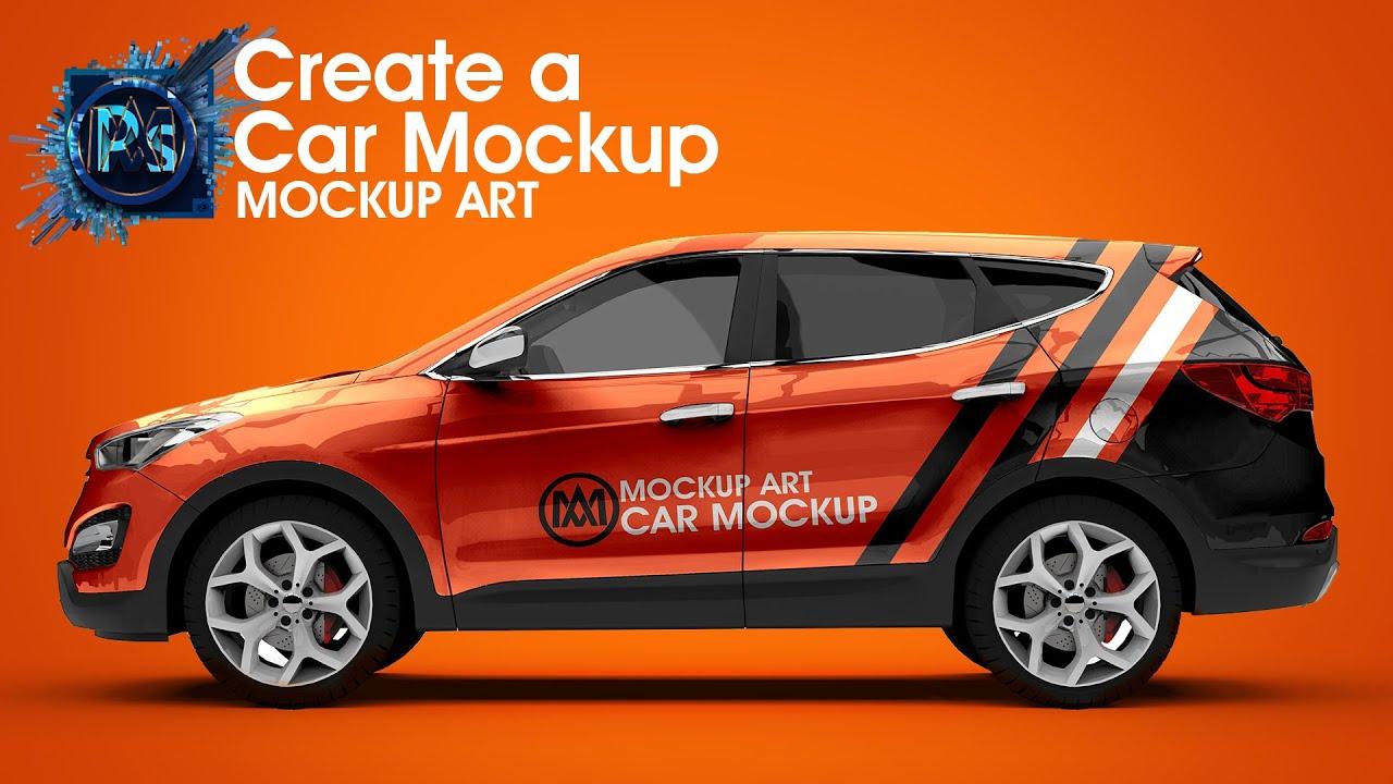 Download How to Make Realistic Car Mockup | Photoshop Mockup ... Free Mockups