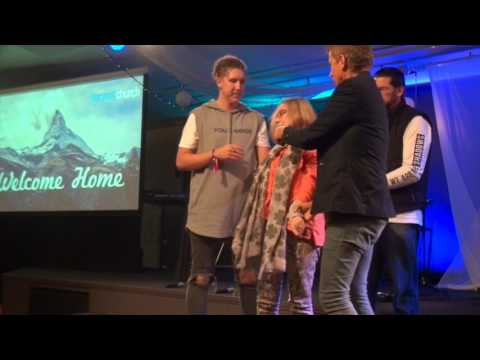 Painful stiff neck healed & lady powerfully touched by The Holy Spirit - John Mellor Healing
