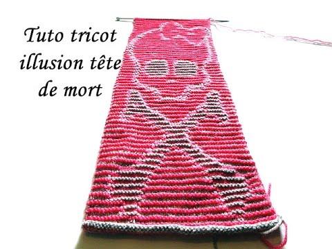 Résultats de recherche d'images pour «tete de mort tricot illusion»