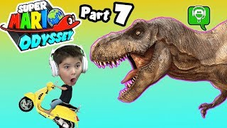 Mario Odyssey Part 7 T-Rex Chase by HobbyKidsGaming
