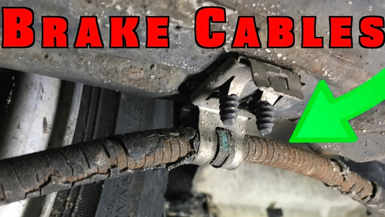 2000 Ford Ranger Rear Brake Diagram Conventional Smoke Detector Wiring How To Replace And Adjust Parking Cables - Youtube