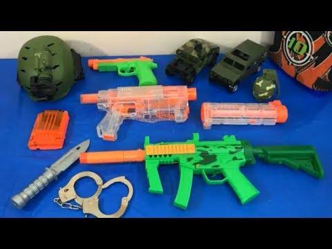 Box of Toys Toy Guns NERF Guns Military Toys Toy Weapons Army Toys Kids Fun