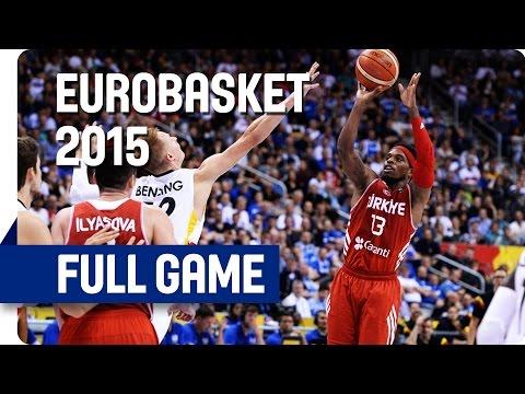 Germany v Turkey  - Group B - Full Game - Eurobasket 2015