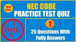 NEC Code Practice Test Quiz 1