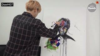 [Vietsub] [BANGTAN BOMB] Concentrating on drawing JK @ BTS (방탄소년단)