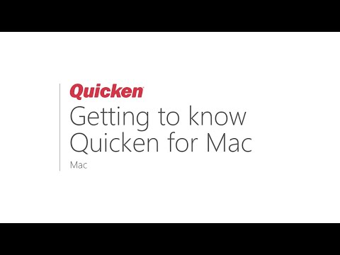 Quicken For Mac - Getting To Know Quicken For Mac