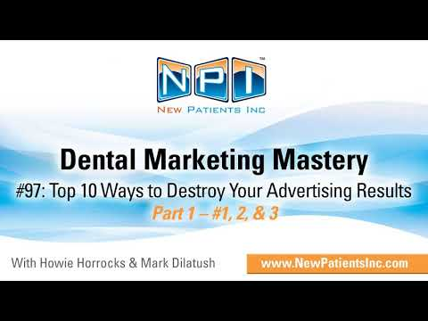 Top 10 Ways to Destroy Your Advertising Results (#1, 2, & 3)