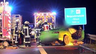 [SCHWERER SPORTWAGEN-UNFALL AUF DER A57] - Chevrolet Camaro ZL1 Totalschaden ~ Feuerwehr Kaarst -