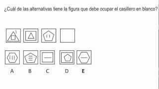 razonamiento visual espacial 101 - Psicotecnico
