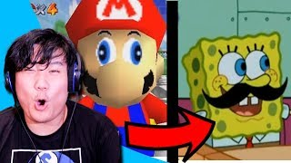 Reacting to Smash Ultimate Memes Portrayed by Spongebob