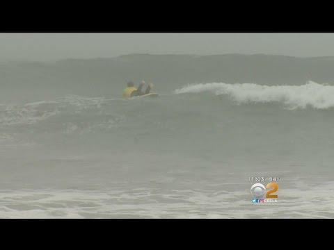 Dangerous Surf Warnings For Beach Goers Seeking Relief From heat