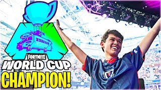 "Fortnite World Cup CHAMPION ""BUGHA"" Wins $3,000,000! #FortniteWorldCup"