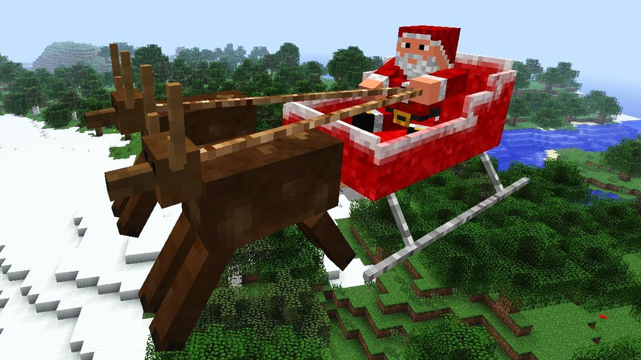 Minecraft Christmas - Mod Review: Flying Santa - YouTube