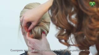 Прическа на основе жгута Hairstyle with wisp парикмахер тв parikmaxer.tv 剪髮