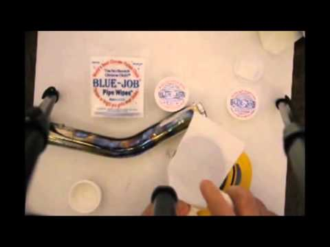 How to clean your pipes using Blue Job Chrome Polish with an Orbital Sander