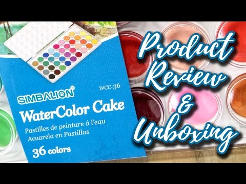 Simbalion Watercolor Cake Review And Unboxing Youtube