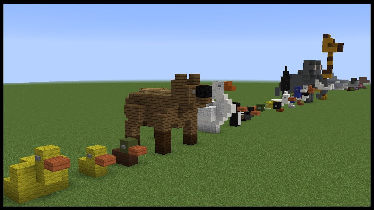 Small Minecraft Animal Designs
