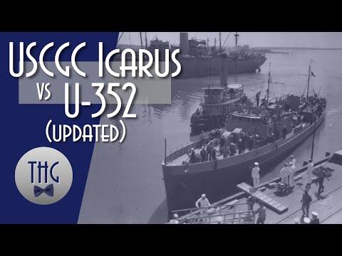 1942 USCGC Icarus versus U-352 in torpedo alley, Updated episode