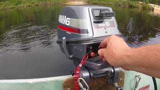 1985 Yamaha 6 hp outboard replacing impeller & first run on boat