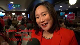 20191021, Liberal Candidate, Jean Yip MP, Victory Party, Toronto, Canada, 加拿大國會議員葉雅麗