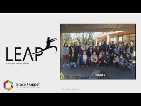 Microsoft LEAP Program at Grace Hopper Program