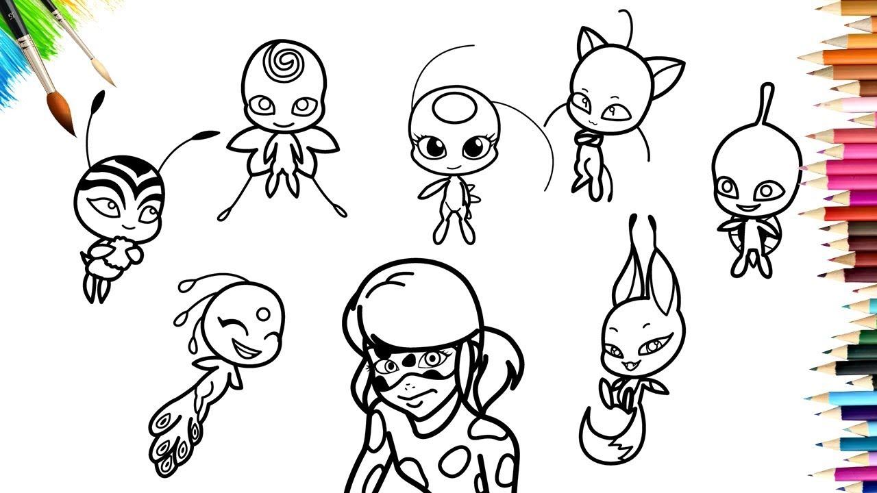 miraculous ladybug season 2 kwami coloring book  youtube