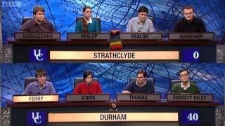 University Challenge S42E04 - Strathclyde vs Durham [1/2] 2017 Video