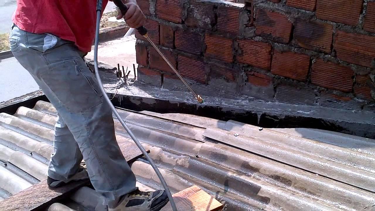 preparando techo para pintar con thermopaint. - youtube