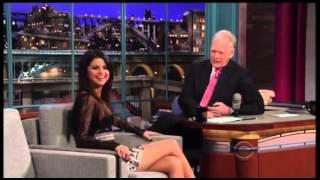 Селена Гомез на Late Show Дэвида Леттермана на русском
