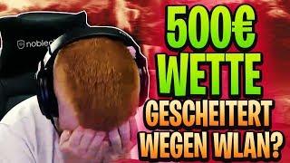 💲🤑 500€ WETTE GEGEN STREAMSNIPER   Wette gescheitert wegen Wlan?   Fortnite Battle Royale