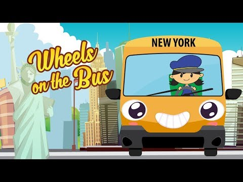 Wheels On The Bus Go Round and Round New York City Nursery Rhyme & More Songs by Luke and Mary
