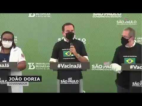 Governador João Doria rebate ministro da saúde