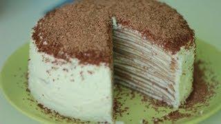 Рецепт блинного торта. Блинный торт с кремом.