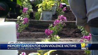 Children plant hope in Baltimore with memory garden