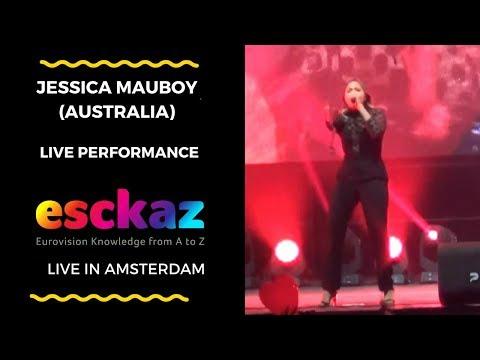 ESCKAZ in Amsterdam: Jessica Mauboy Australia  We Got Love