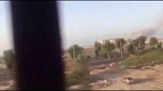 شاهد لحظة الانفجار التي استهدفت فندق القصر حيث تقيم الحكومة