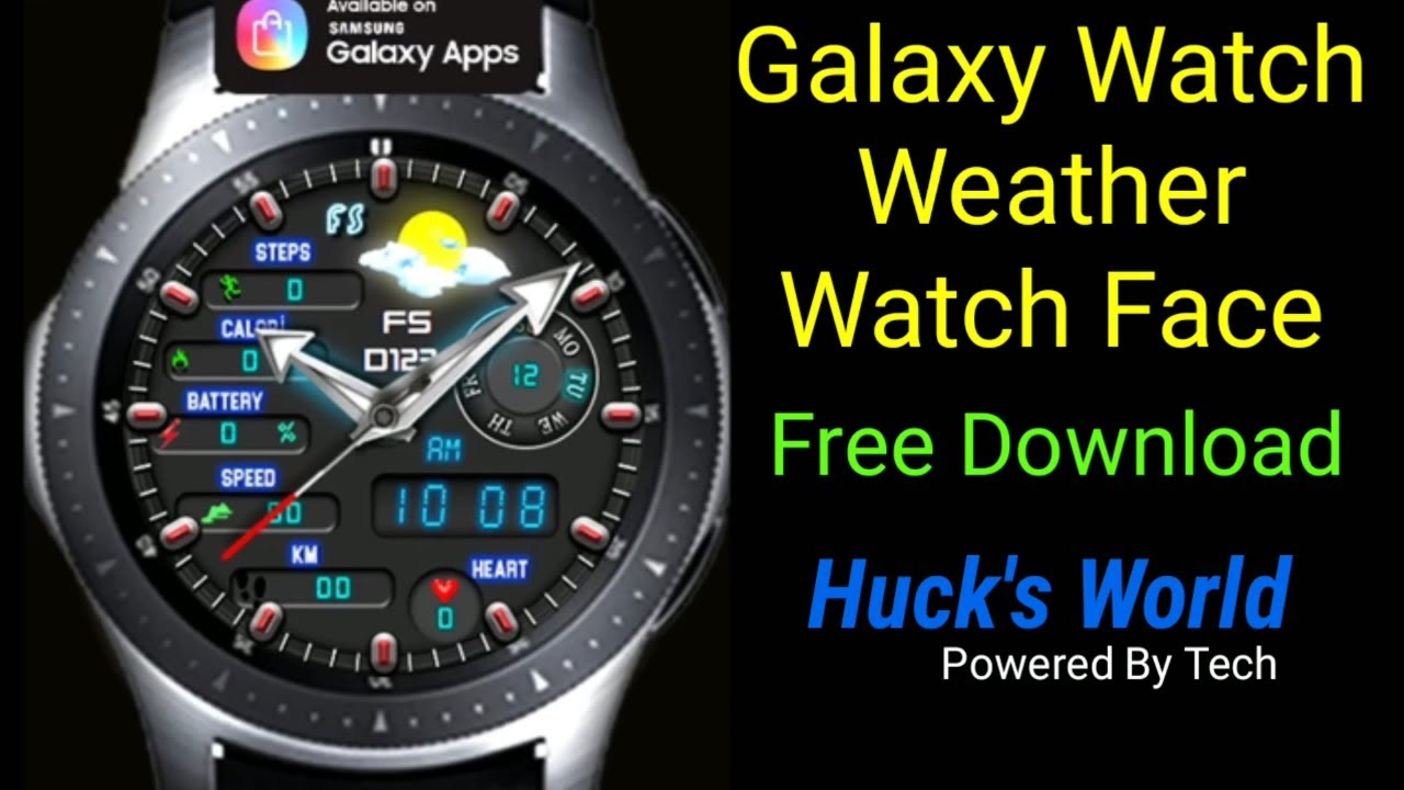 Free Galaxy Watch/GearS3 Analog/Digital Weather Watch Face Download Is A  Must