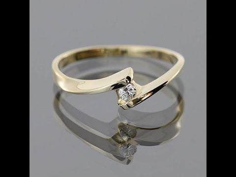 Золотое кольцо с бриллиантом Филадельфия