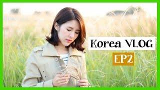 Yumi P-Korea VLOG EP2 韓國之旅Day2 麵包車Cafe +天空公園