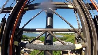 Tampa Fire Academy arial ladder climb