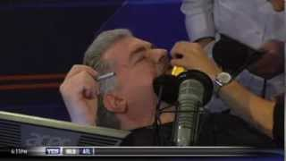 Don La Greca shaves live on TV after losing Super Bowl bet to Michael Kay