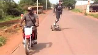 E-Glide skate road run of the sotuba canal (mali)
